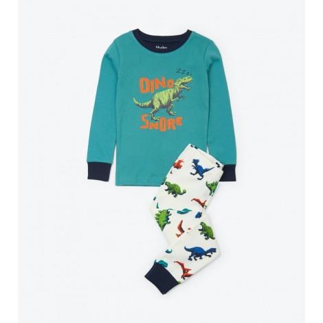 Pijama infantil DINOS multicolor algodón orgánico
