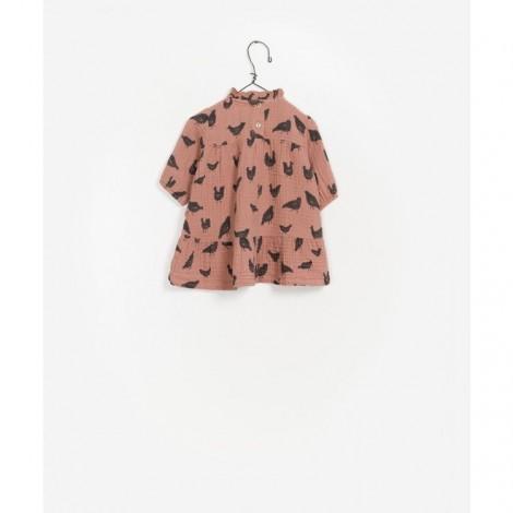 Vestido tejido estampado gallinas en JAM