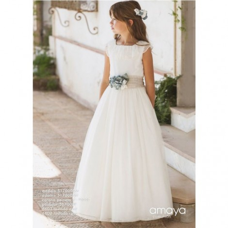 Vestido comunión sin manga 517000SM Amaya 2020