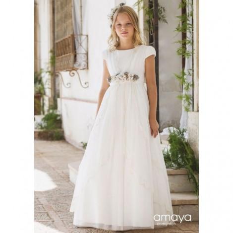 Vestido comunión manga corta 517030MC Amaya 2020