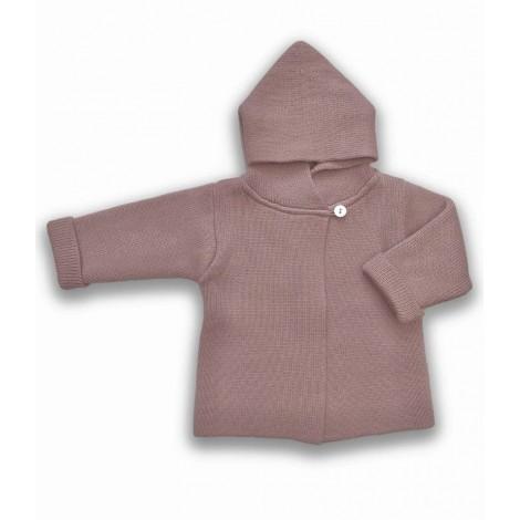Abrigo bebé ROSS lana rosa Normandie