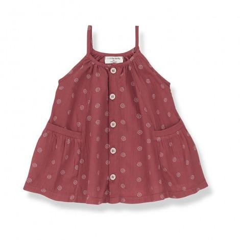 Vestido FLORIANA de bebé en ROJO