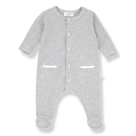 Pelele con pies JAD de bebé en GRIS VIGORÉ