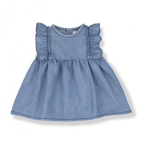 Vestido MENORCA de bebé en DENIM