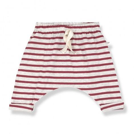 Pantalones anchos SAMMY de bebé en ROJO