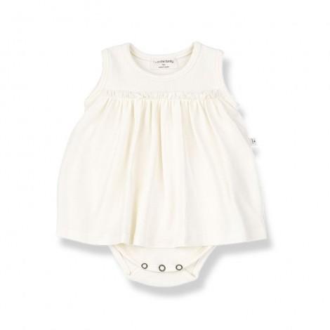 Vestido-Body SYBILLA de bebé en CRUDO