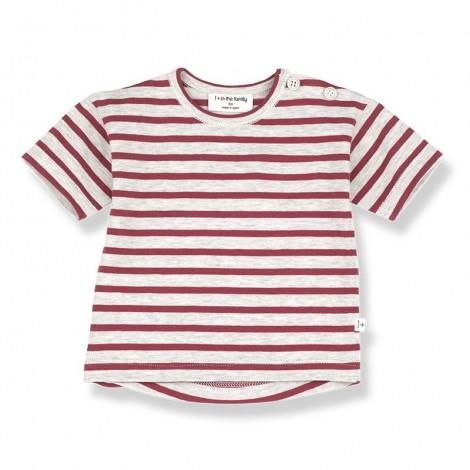 Camiseta m.c. VENCE de bebé en ROJO