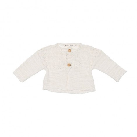 Chaqueta tricot GUNTA bebé en NATURAL