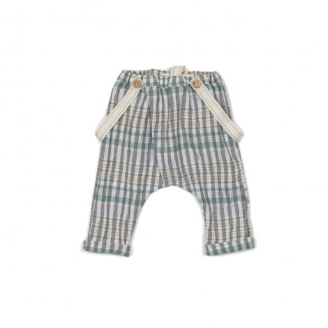 Pantalón con tirantes JOSEF SQUARE bebé en GREEN