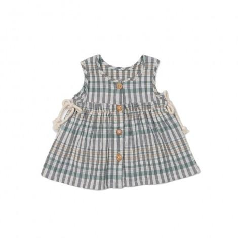 Vestido sin mangas MOLLY SQUARE bebé en GREEN