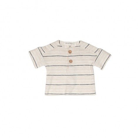 Camiseta OLIVIER STRIPE bebé en NATURAL