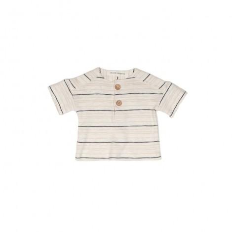 Camiseta OLIVIER STRIPE bebé en NATURAL