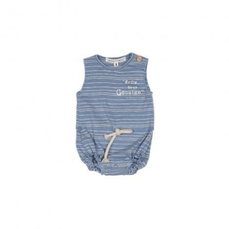 Pelele corto PANCHO STRIPE bebé en ULTRAMAR