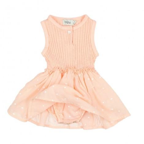 Vestido bebé SUSIE mixto en BLUSH PINK