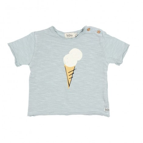 "Camiseta bebé CESAR ""ICE CREAM"" en MISTY BLUE"