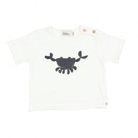 "Camiseta bebé CESAR ""CRAB"" en WHITE"