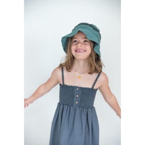 Vestido niña BEA tirantes en GRAPHITE