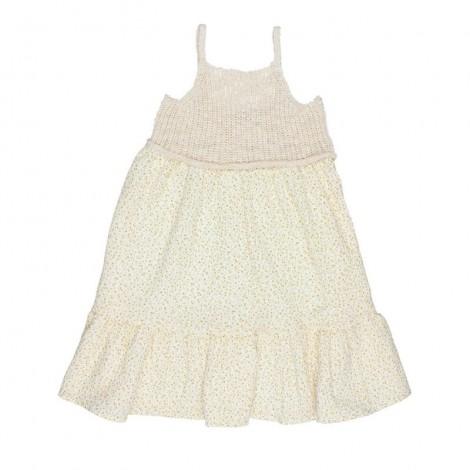 Vestido niña IRIS mixto en ECRU