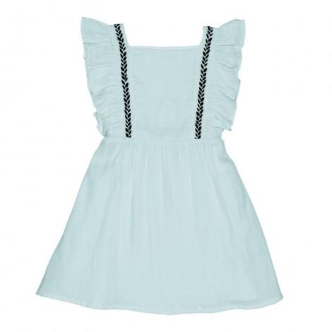 Vestido niña GRAZE bordado en MISTY BLUE