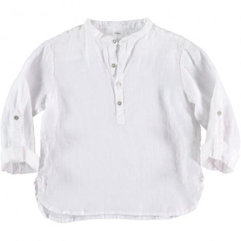 Camisa lino niño PAUL en WHITE