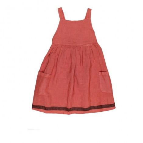 Vestido niña pichi YVONNE en BRICK