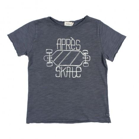 "Camiseta infantil CESAR ""APRÈS SKATE"" en GRAPHITE"