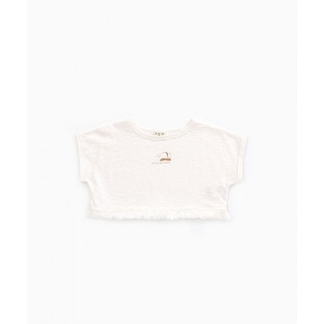 Camiseta top niña flequillos en PEARL