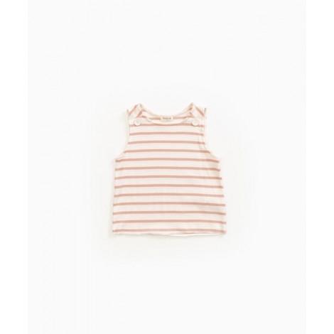 Camiseta niña sin mangas a rayas en SMOOTH