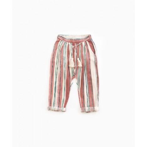 Pantalón corto niña estampado rayas en OLD TILE