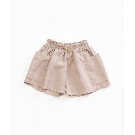 Pantalón short niña de lino en JUTE