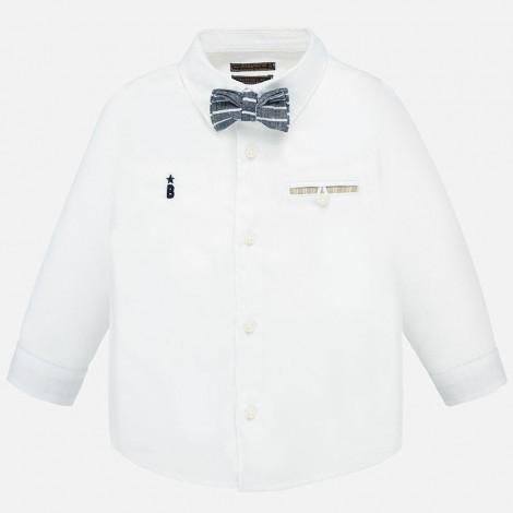 Camisa bebé de vestir con pajarita color Blanco