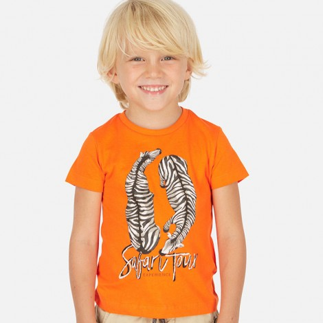"Camiseta niño manga corta ""safari color Carrot"