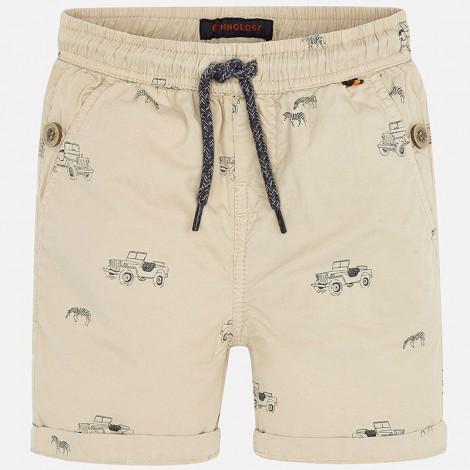 Pantalón bermuda niño Jeep estampado color Marfil