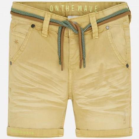 Pantalón bermuda niño cordon detalles color Canoa