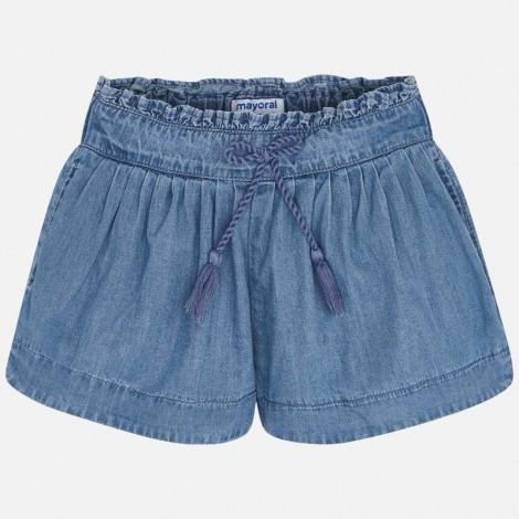 Pantalón short niña vaquero color Tejano