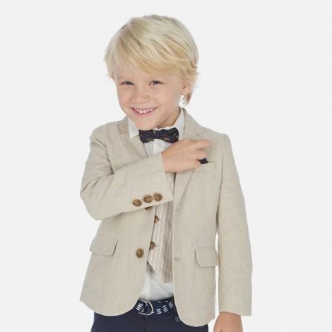 Americana niño lino tailoring color Pergamino