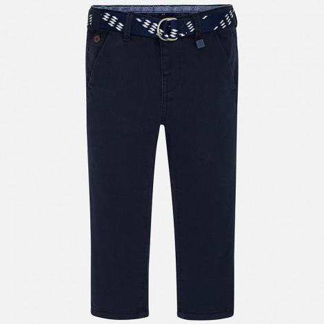 Pantalón chino niño pique cinturón color Marino