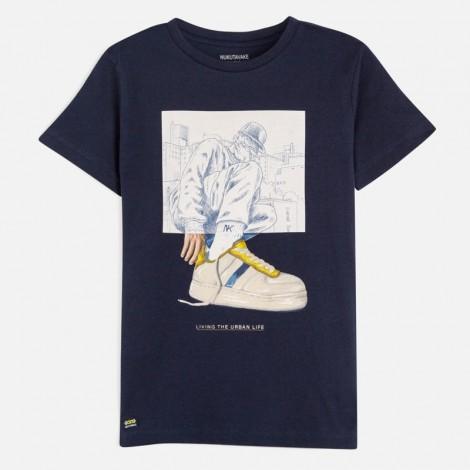 Camiseta niño manga corta URBAN LIFE color Oceano
