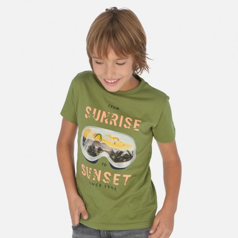 Camiseta niño manga corta SUNRISE color Jungla