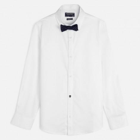 Camisa niño vestir m/l pajarita color Blanco