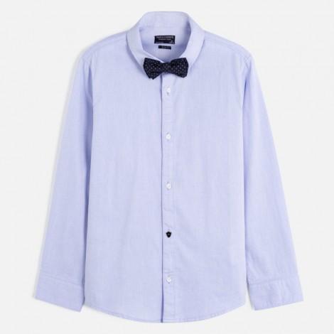 Camisa niño vestir m/l pajarita color Celeste