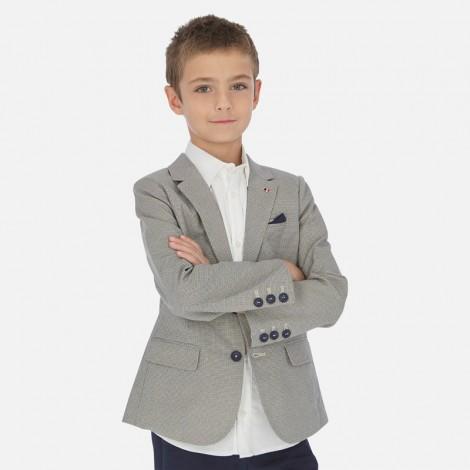 Americana sport niño en lino estampada color Beige