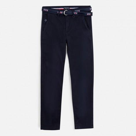 Pantalón pique niño con cinturón color Oceano