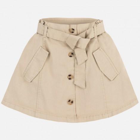 Moderna falda niña sarga color Tostado