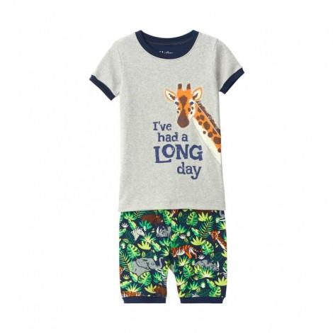 Pijama infantil JUNGLE SAFARI algodón orgánico M/C