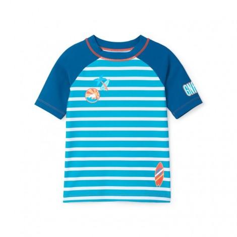 Camiseta agua niño lycra protección solar TROPICAL