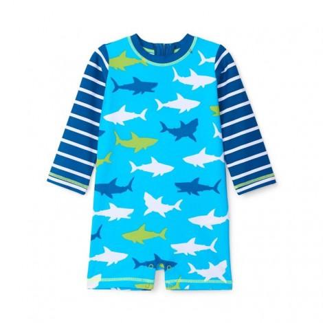Bañador lycra bebé de una pieza WHITE SHARKS