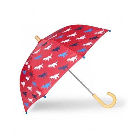 Paraguas infantil rojo DINOS T-REX multicolor