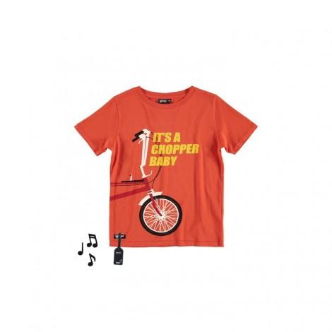 Camiseta infantil sonido M/C CHOPPER BIKE naranja