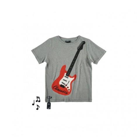 Camiseta infantil sonido M/C AIR GUITAR gris